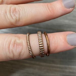 🌈 3 stacking copper rings